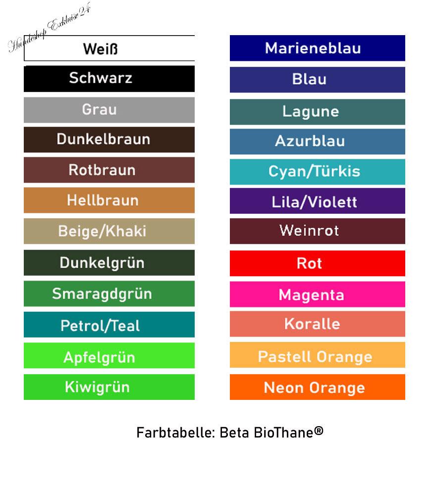 BioThane Farbtabelle
