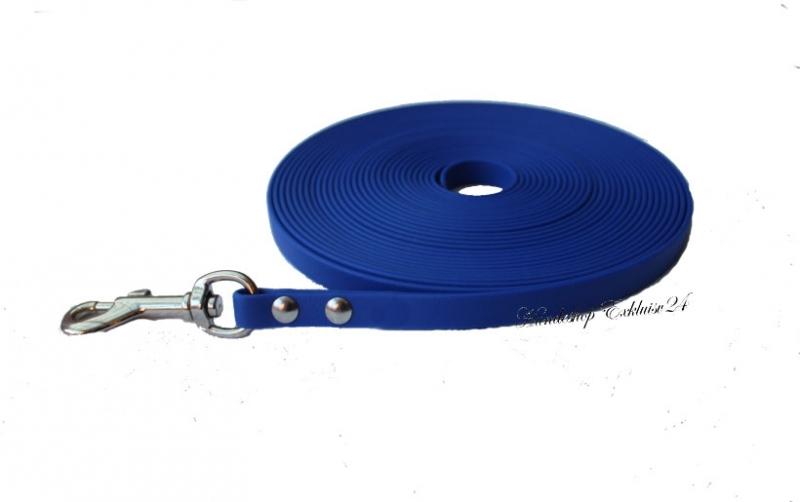 BioThane Schleppleine für große Hunde, Blau