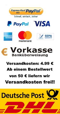 Zahlungsmethoden/Versand